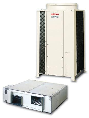 Внутренний и наружный блоки канального кондиционера