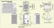 Схема, установочные размеры внешнего блока кондиционера