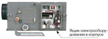 Ящик электрооборудования в корпусе канального блока
